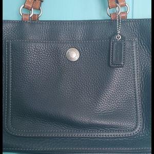 Coach Tote/Shoulder Bag Pebbled Leather
